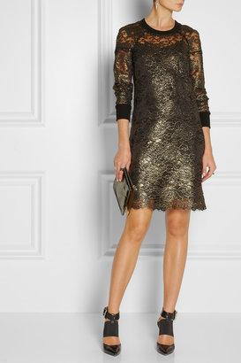 DKNY Metallic lace dress