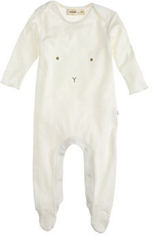 Oeuf Baby bunny footed one-piece