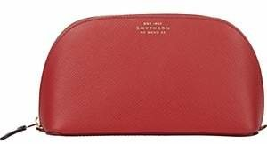 Smythson Women's Panama Cosmetic Case-Red