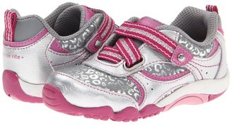 Stride Rite SRT Misty (Toddler) (Silver/Magenta) - Footwear