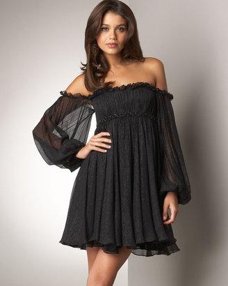 Notte by Marchesa Off-Shoulder Babydoll Dress