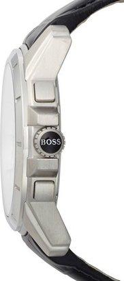 HUGO BOSS Chronograph Leather Strap Watch, 46mm