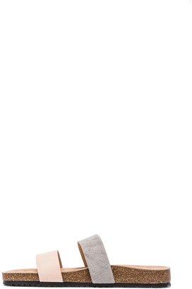 Loeffler Randall Paz Sandal with Calf Fur