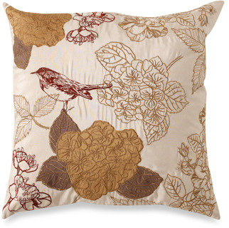 """Tula Gold 20"""" Square Toss Pillow"""