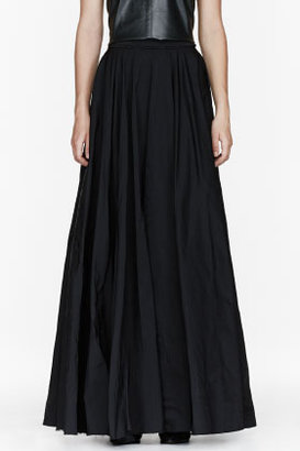 Yang Li Black Floor Length Circle Skirt