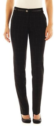 JCPenney Worthington Slim Belted Pants - Petite