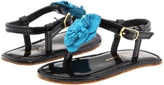 Ralph Lauren Suzanne Floral (Infant) (Black/Turquoise) - Footwear