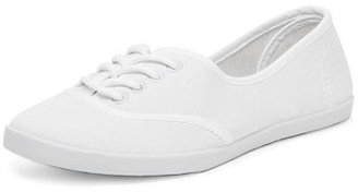 Dorothy Perkins White canvas lace up pumps