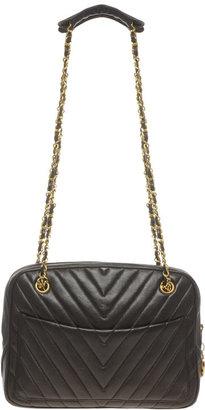 Vintage Chanel Chevron Quilted Shoulder Bag