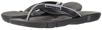 Havaianas Power Flip Flops (Black/Steel Grey) Men's Sandals
