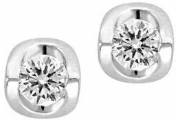 Effy 0.25 TCW Diamond and 14K White Gold Diamond Stud Earrings