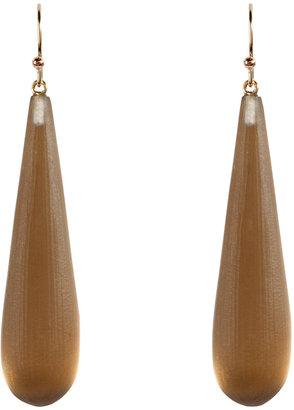 Alexis Bittar Sun Gold Lucite Long Raindrop Earrings