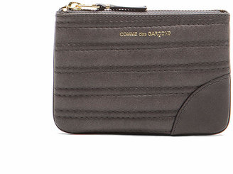 Comme des Garcons Embossed Stitch Small Pouch