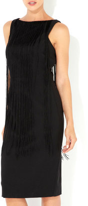 Wallis Black Fringe Shift Dress