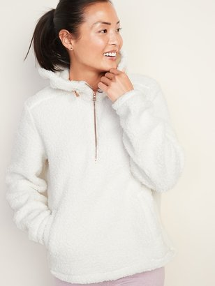 Old Navy Plush Sherpa 1/2-Zip Hoodie for Women