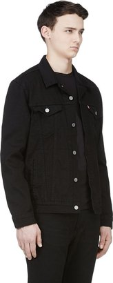 Levi's Black Denim Nightshine Trucker Jacket