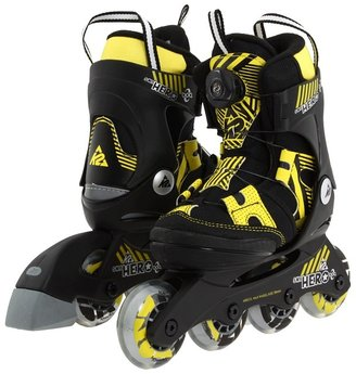 K2 Skates K2 Sk8 Hero Boa Jr (Little Kid/Big Kid) (Black/Yellow) - Footwear
