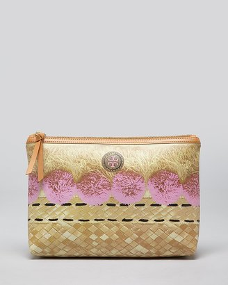 Tory Burch Cosmetic Case - Trompe Rattan Large Slouchy