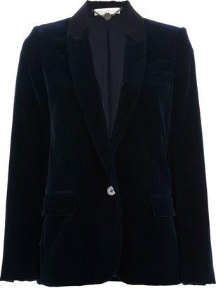 Stella McCartney single button corduroy blazer