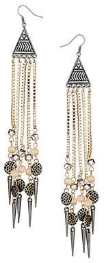 Dorothy Perkins Long chain spike earrings