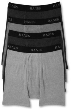 Hanes Men's Boxer Briefs 4-Pack + 1 Extra Bonus Pair