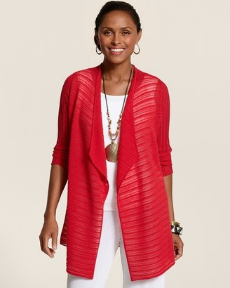 Chico's Travelers Collection Ottoman Cardigan