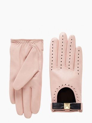 Kate Spade Perforated leather gloves