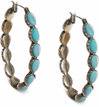 574badc75 Lucky Brand Earrings, Reconstituted Turquoise 1-5/8