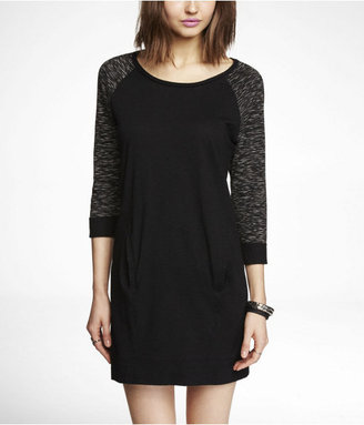 Express Slub Knit Sweatshirt Dress