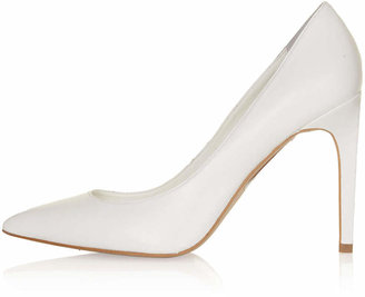 Topshop Glory white high court shoes