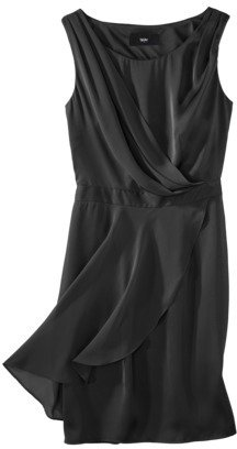 Mossimo Women's Satin Chiffon Draped Dress - Assorted Colors