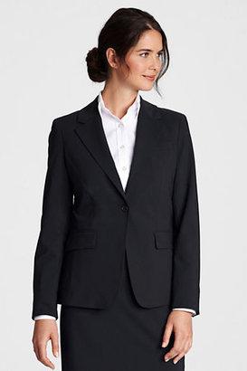 Lands' End Women's Regular Washable Wool 1-button Blazer