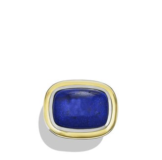 David Yurman Waverly Ring with Green Onyx and Gold
