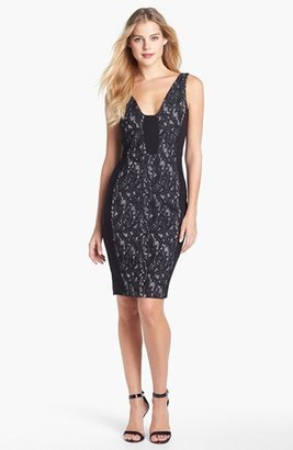 French Connection 'Lily' Jacquard Sheath Dress
