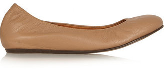 Lanvin - Leather Ballet Flats - Tan $495 thestylecure.com