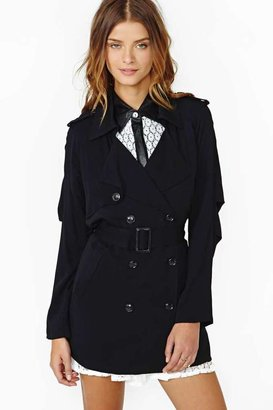 Nasty Gal Off The Record Trench - Black