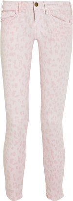 Current/Elliott The Stiletto leopard-print cropped low-rise skinny jeans