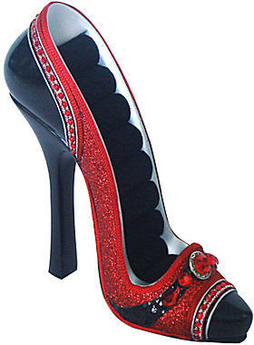 JCPenney Asstd National Brand Red High-Heel Shoe Ring Holder