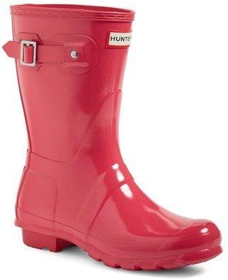 Women's Hunter 'Original Short' Gloss Rain Boot $140 thestylecure.com