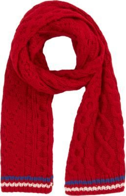 Michael Bastian Gant by Thick Cable Knit Scarf