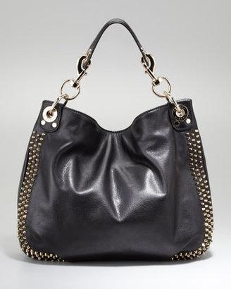 Rebecca Minkoff Luscious Mini Studded Hobo Bag, Black