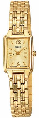 Seiko Women Gold-Tone Bracelet Watch 16mm SXGL62