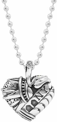 """Lagos Sterling Silver Heart of New York Necklace, 34"""""""