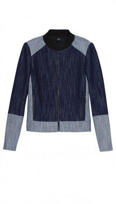 Tibi Denim Basketweave Jacket