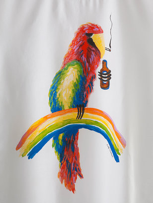 Tee Party Screen Printed Power Washed Parrot