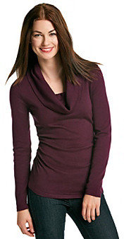It's Our Time ITS OUR TIME Juniors' Ruched Side Cowlneck Sweater
