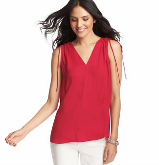 LOFT Ruched Shoulder Tie Tank