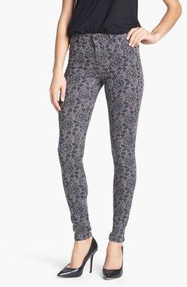 CJ by Cookie Johnson 'Joy' Lace Print Stretch Skinny Jeans