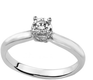 Simply Vera Vera Wang Diamond Solitaire Engagement Ring in 14k White Gold (1/3 ct. T.W.)