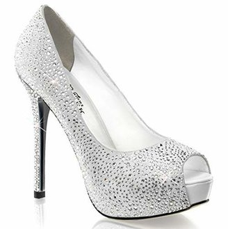 Pleaser USA Women's Prestige-16 WS Peep-Toe Pump